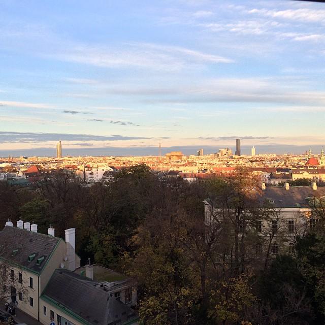 Schöne Aussicht auf Wien... - via Instagram
