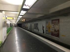 Viele schöne Metrostationen hat Paris nun nicht...