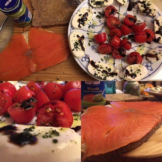 Dinner time mit Lachs und Mozzarella <a rel=