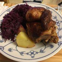 Halbes Hähnchen vom Weihnachtsmarkt + Reste vom Wochenende = lecker Abendessen #foodporn - via Instagram