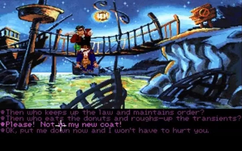 Largo LaGrande rånar dig på allt du äger och har i Monkey Island 2