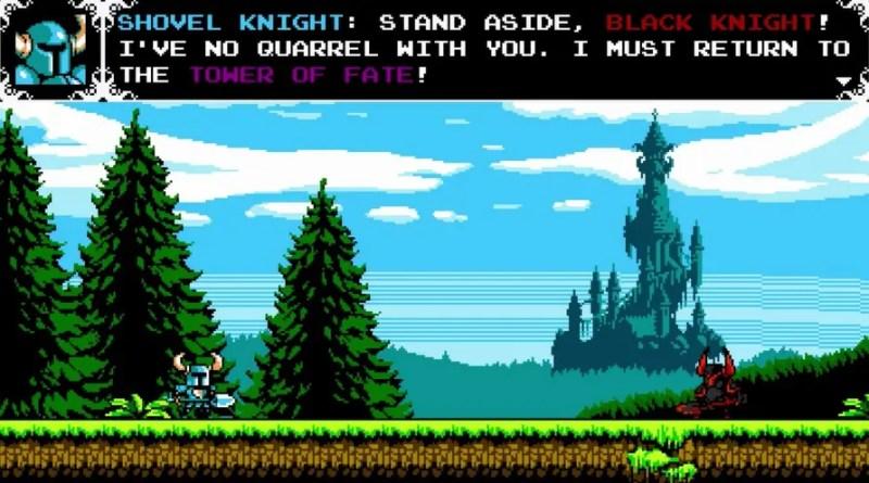 Säg hej till Black Knight! Spelets första boss, och en ganska lätt nöt att knäcka men också en försmak på vad som senare väntar...