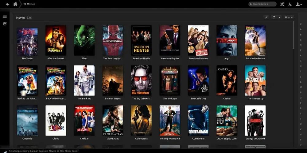 Plex är gratis och rekommenderas varmt för att streama filmsamlingen från dator/extern disk till Apple TV.