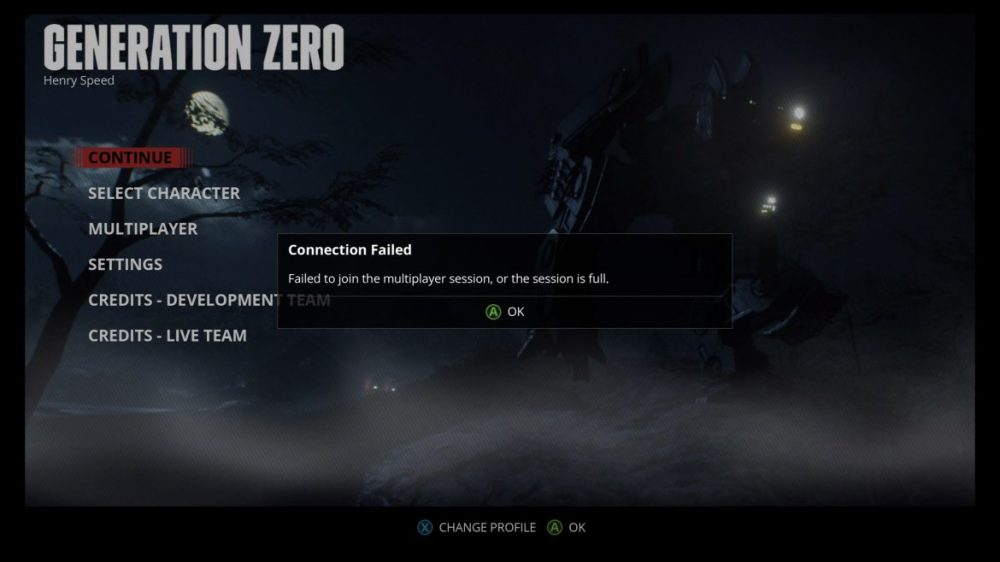 Screenshot: Generation Zero (Xbox one X)