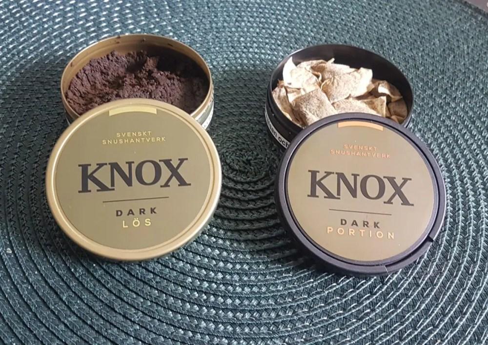 Knox dark portion och lös snus