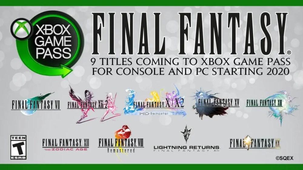 Final Fantasy Xbox Game Pass 2020