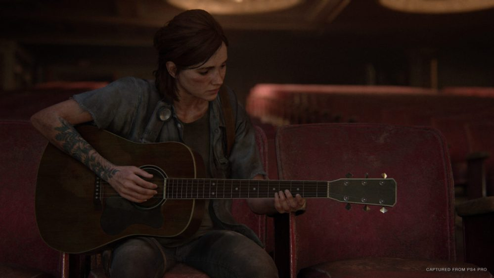 the last of us part 2 ellie spelar gitarr