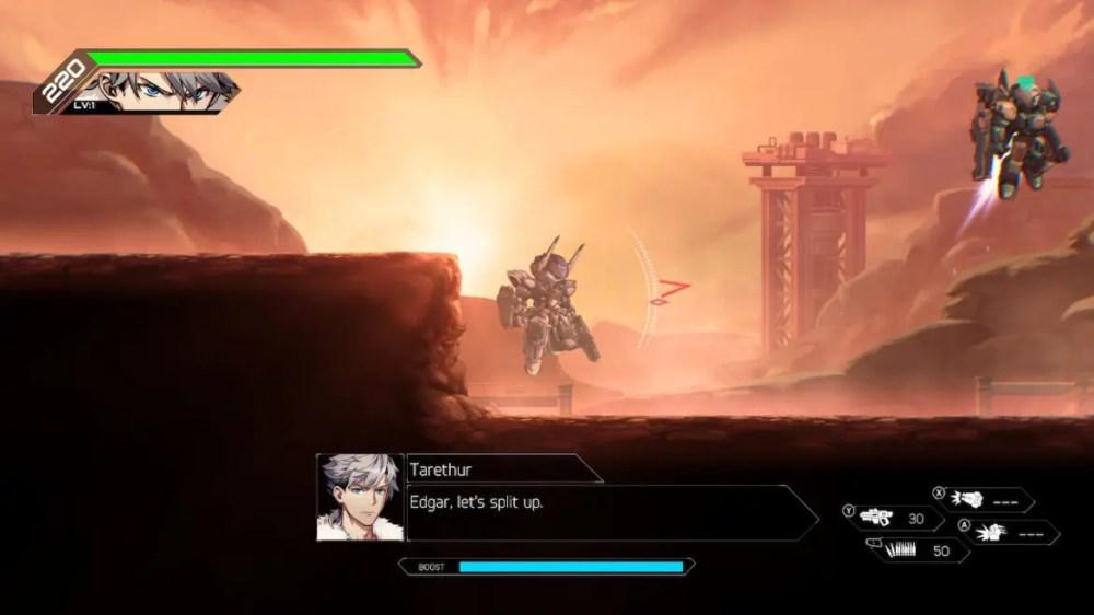 Hardcore Mecha - RocketPunch Games - Screenshot Switch - copyright 2020