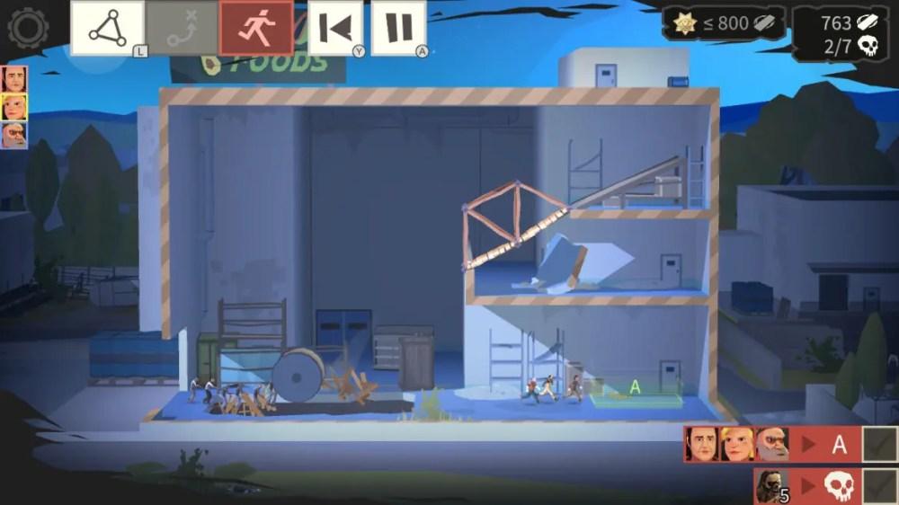 Bridge Constructor: The Walking Dead - ClockStone Software - Headup Games - copyright 2020 - screenshot nintendo switch