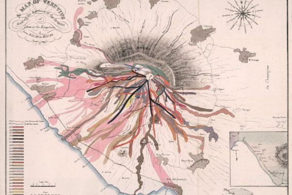 Map of Vesuvius lava streams
