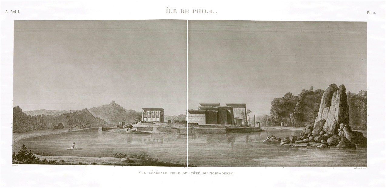 view of philae description egypte antiquités antiquity egypt