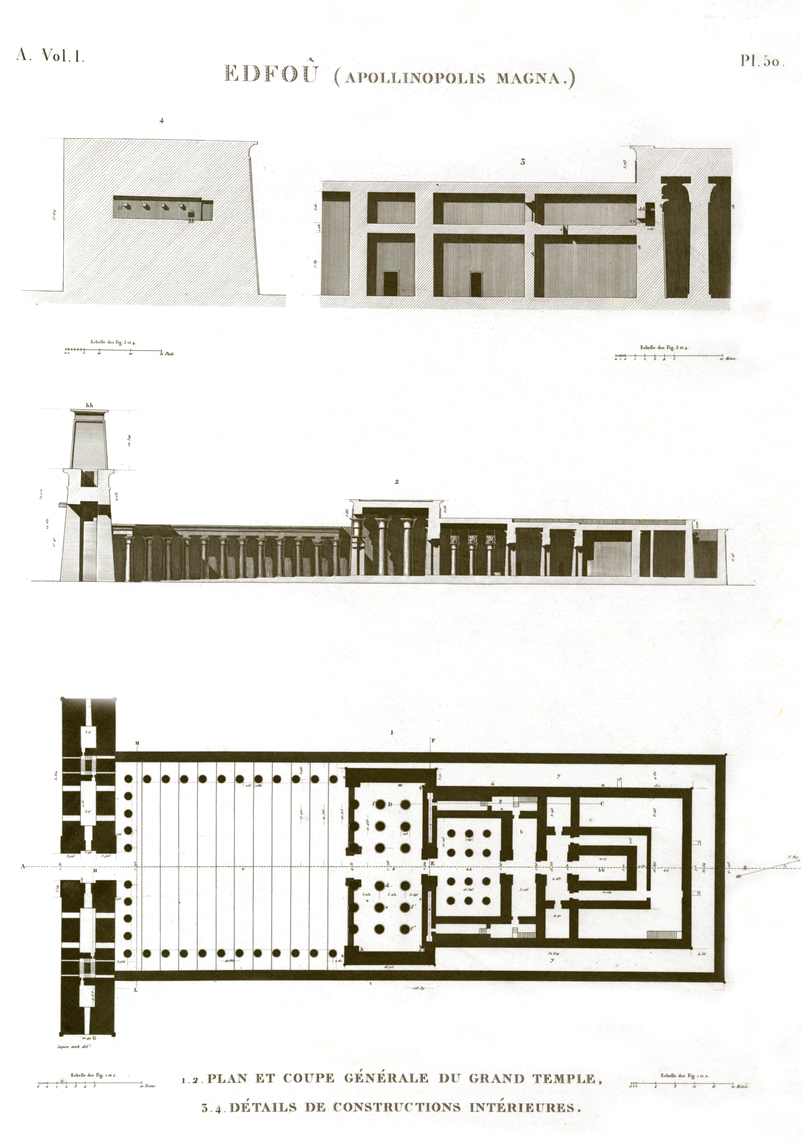 Plan Edfu Temple Egypt description egypte antiquités egypt antiquity