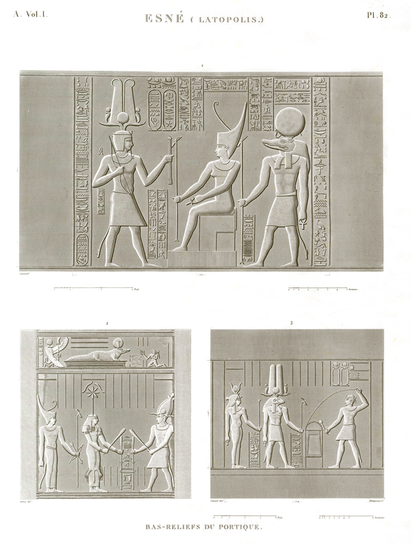Bas relief esna description egypte antiquités egypt antiquity
