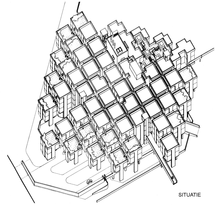Centraal Beheer office Apeldoorn Structuralism Axonometric