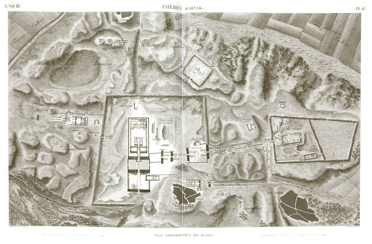 Luxor Temple Plan Egypt