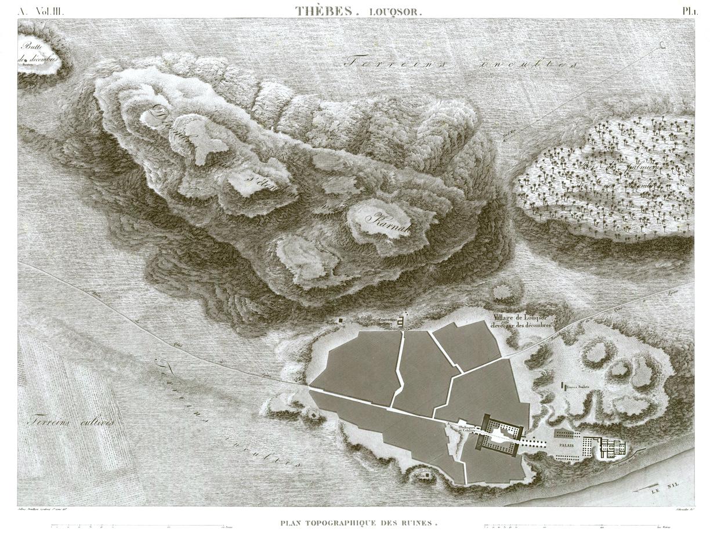 Plan Luxor Temple