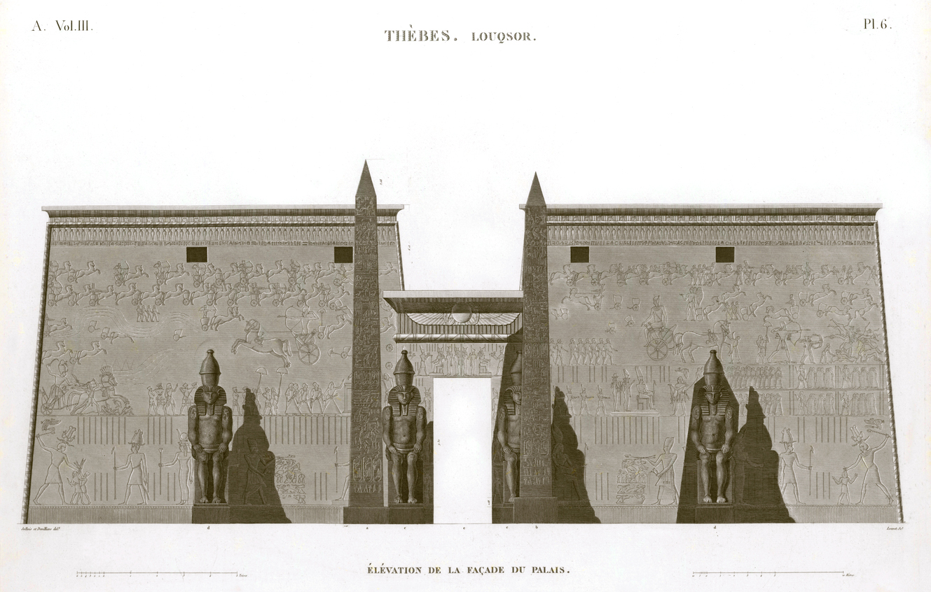 Pl.6 - Elevation of the palace facade