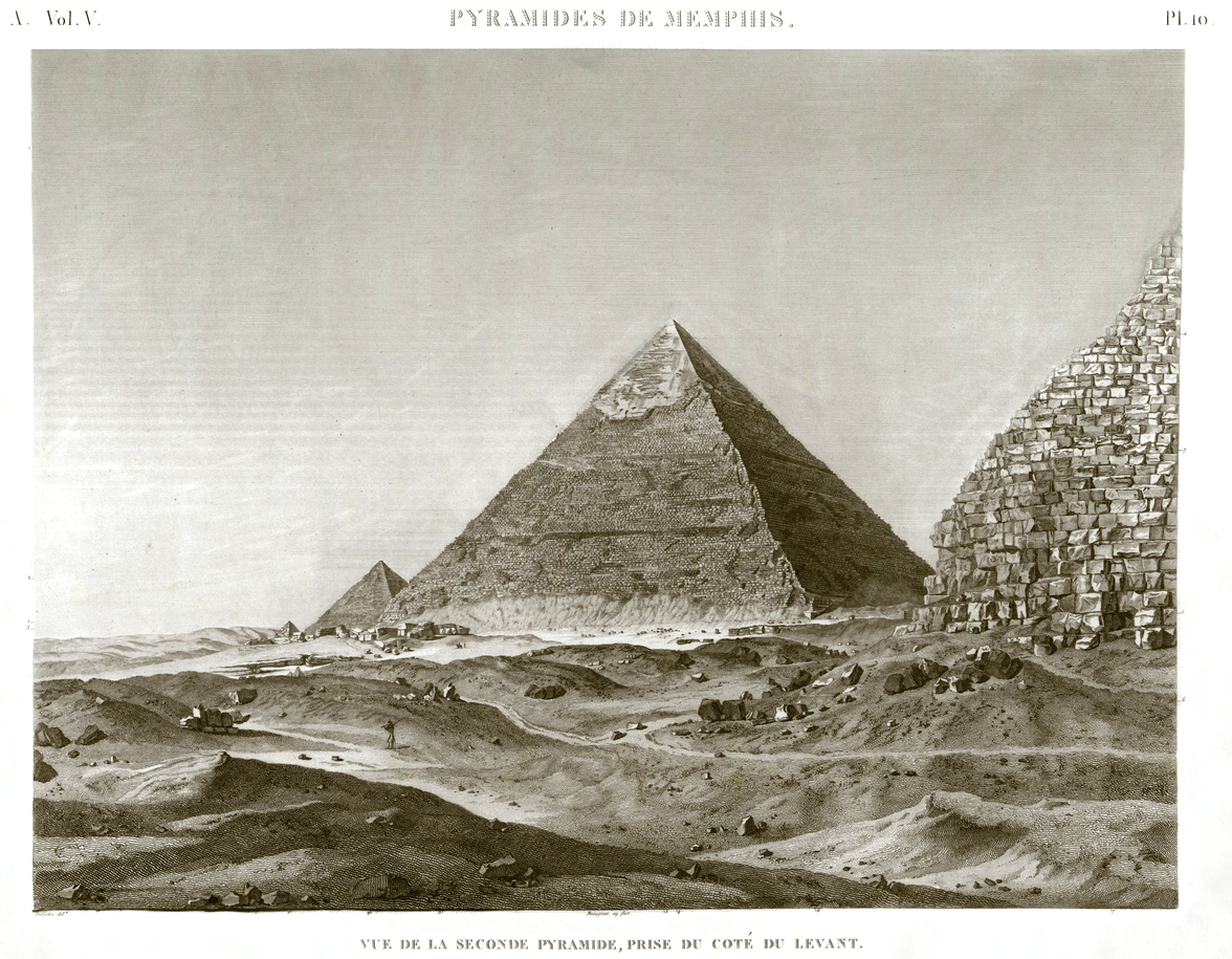Giza Pyramid Pl.10 - View of the second pyramid, taken from the east side Egypt Giza Khafre