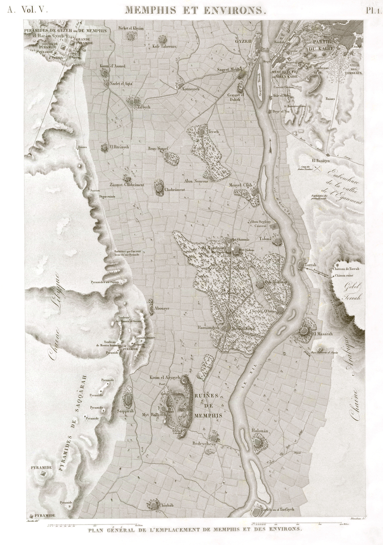 Pl.1 - General Site Plan of Memphis and Surroundings