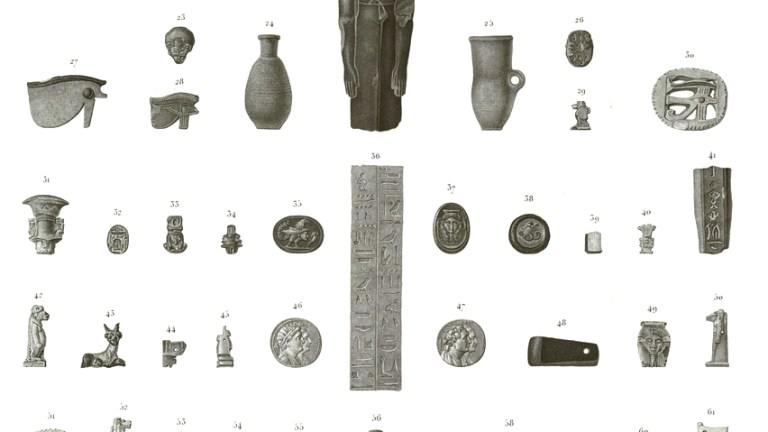 Pl. 84 Figures, scarab and other amulets, terracotta 5.36. Sculpture fragmens