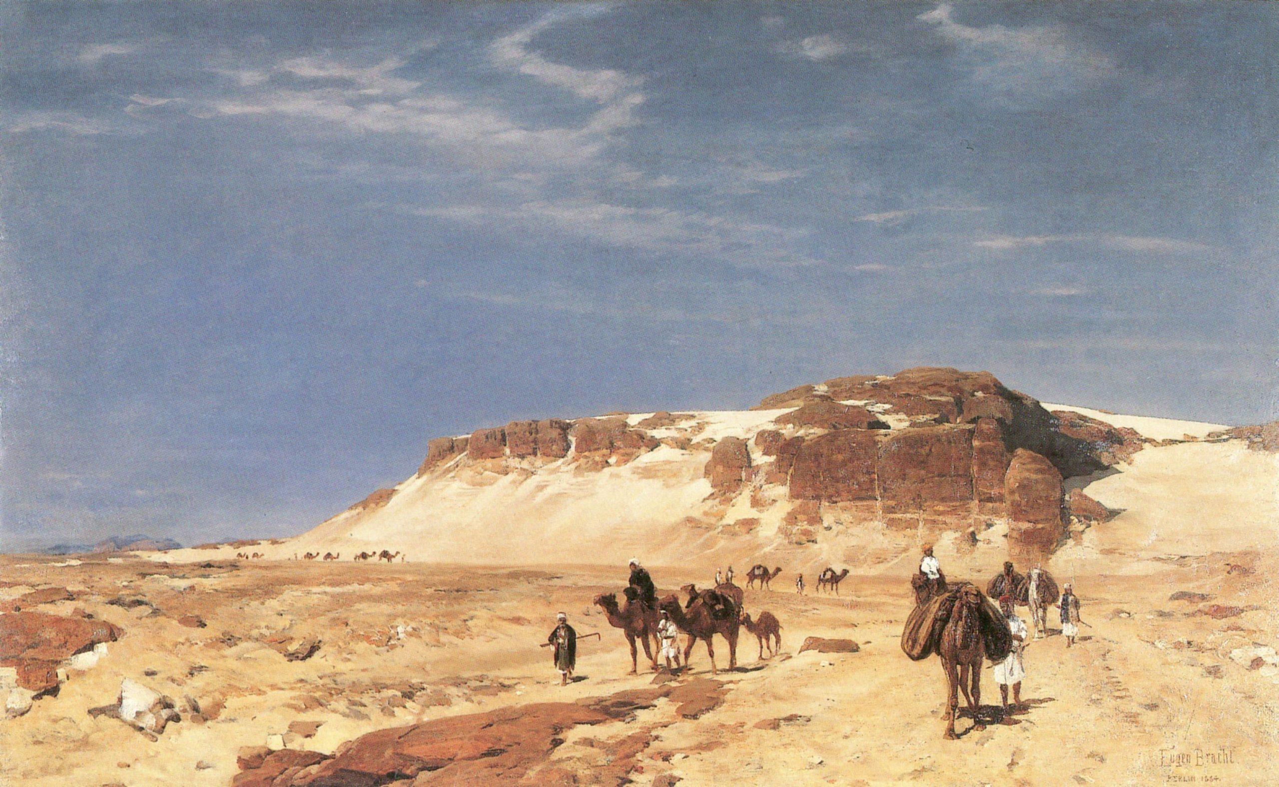 From the Sinai desert - Eugen Bracht, 1884