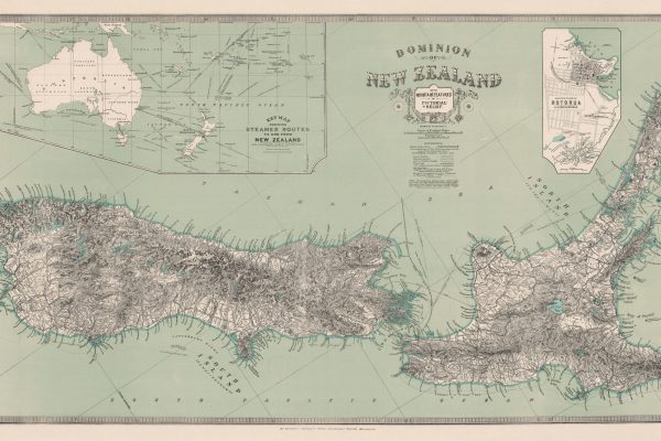 New Zealand Map 1921