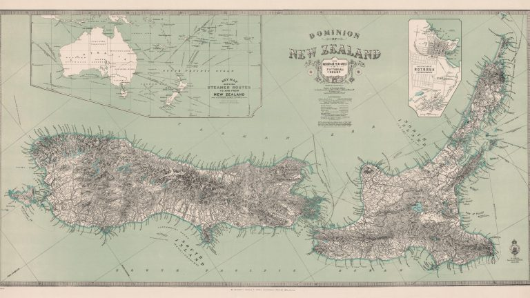 New Zealand Relief Map 1921