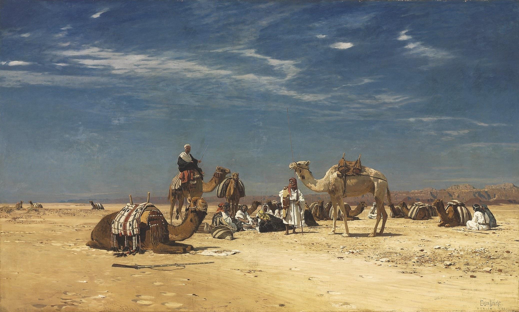 Resting in the Araba - Eugen Bracht, 1883
