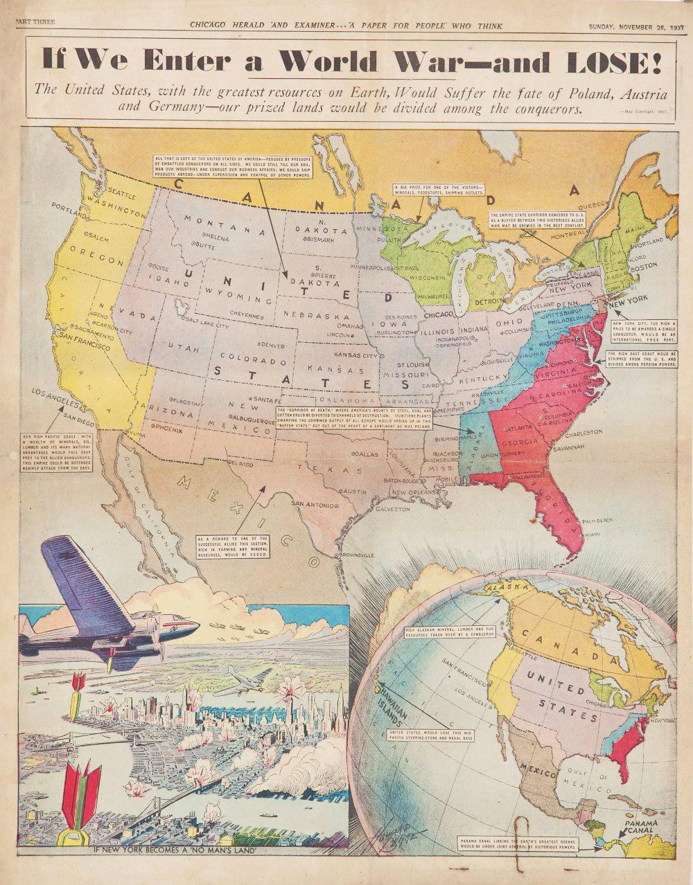 World War Map Howard Burke