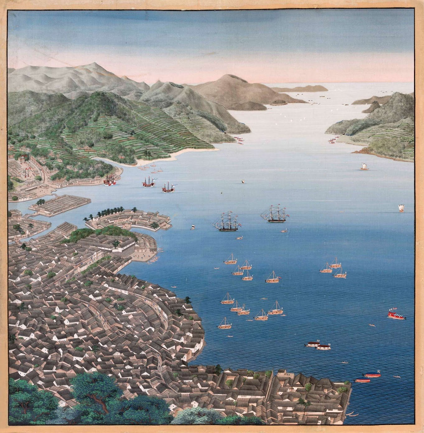 Dejima Deshima Kawahara KEiga Nagasaki