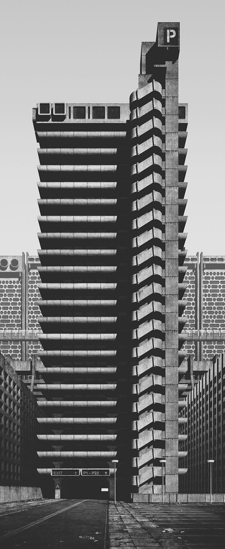 Clemens Gril A Future City From The Past High Rise Brutalist Building Owen Luder Rodney Gordon