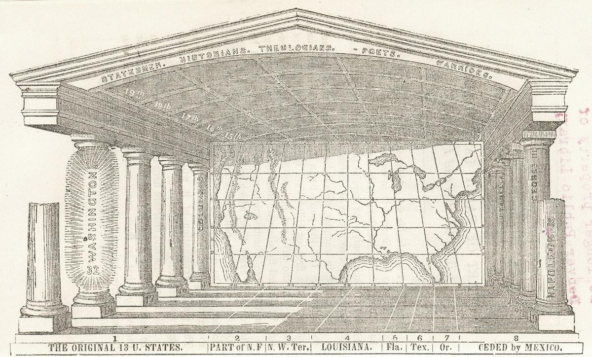 Emma Willard's American Temple of Time, 1860