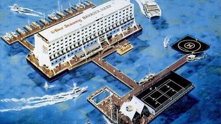 The Hotel Haegumgang, a floating hotel in North Korea
