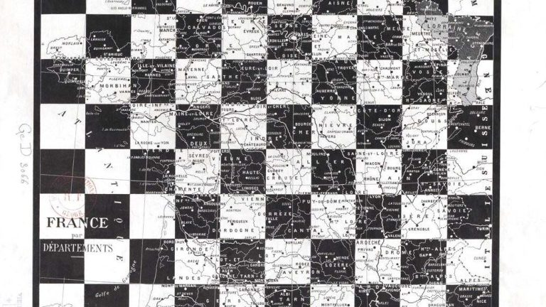 The French Departments, the History of the Grid Map of France