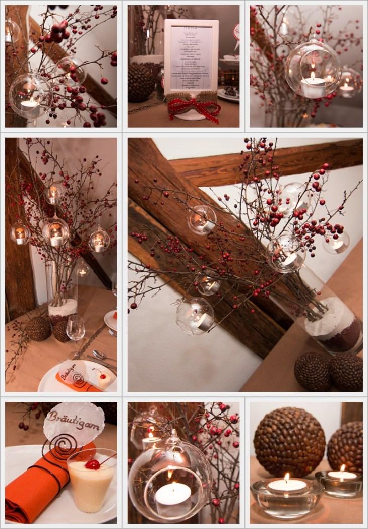 Dekorationskonzept im winterlichen Stil