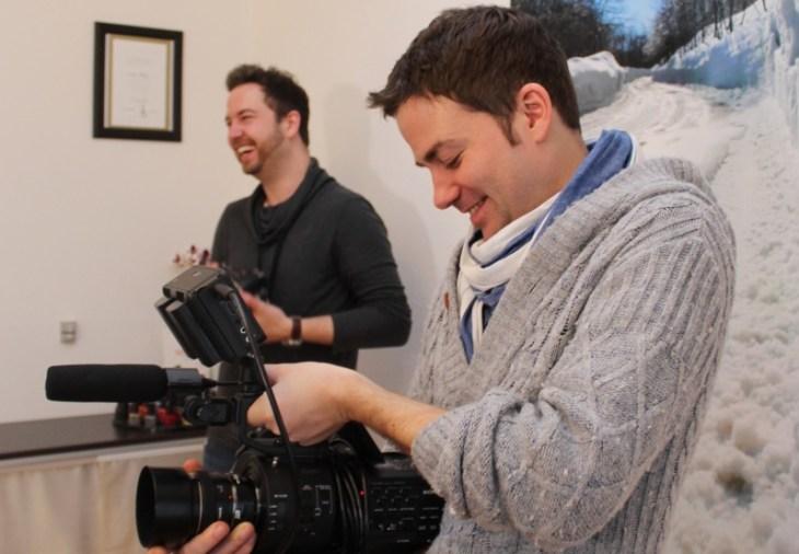 Immer mit bester Laune dabei: Fotograf Florian Eisermann und Videograf Lars Zacharias.