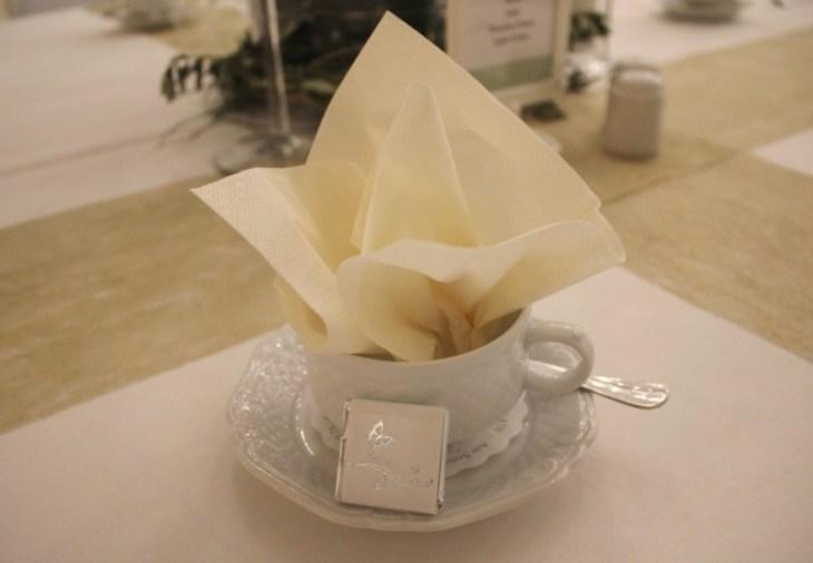 18 Tasse Serviette nachmittags Hochzeit Dekoration