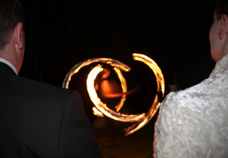 Feuervariete Feuershow Cedrus Inflamnia Hochzeit