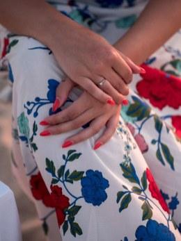 Verlobungsring Braut Verlobte Heiratsantrag Strand Kreta Planung Service Unterstützung