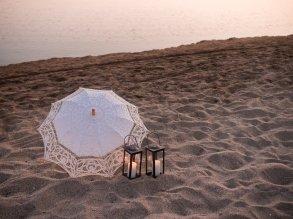 Dekoration am Strand in Hersonissos Kreta Analipsi Kato Gouves Hochzeitsplanung Planung Dekoration Service