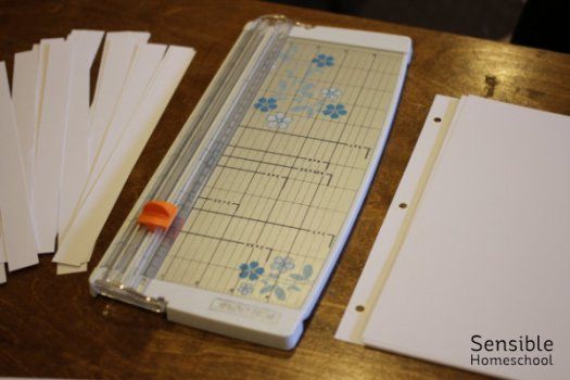 DIY history timeline pages and paper cutter