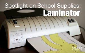 spotlight on homeschool supplies laminator with laminated printable