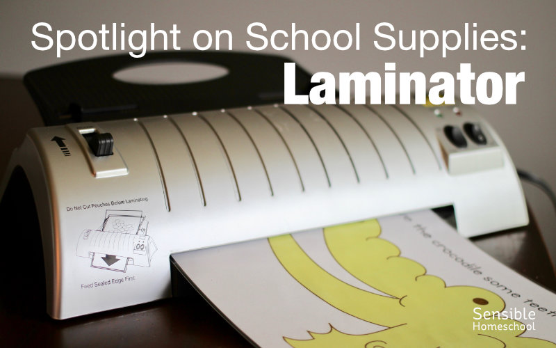 spotlight on homeschool supplies laminator with laminated printable