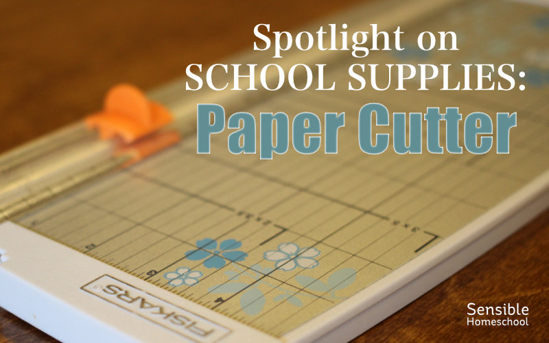 Spotlight on School Supplies: Paper Cutter with Fiskars paper cutter background