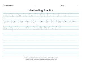 Alphabet and numbers tracing and copywork page