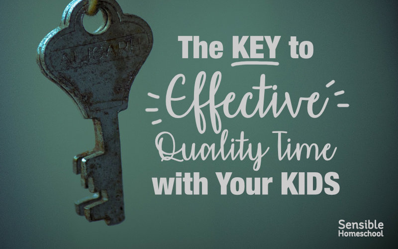 The Key to Effective Quality Time with Your Kids with metal key on blue-green background