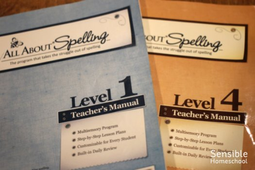 All About Spelling books Levels 1 & 4