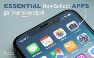 Essential Non-School Apps for your Homeschool with iPhone home screen apps