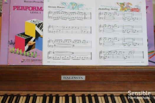 Bastien Piano Books on Baldwin piano