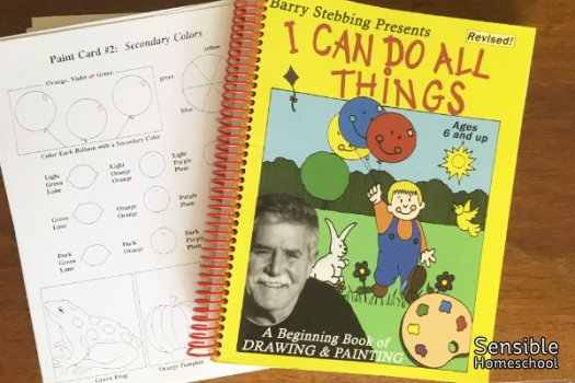 I Can Do All Things Art Curriculum notebook and paint card